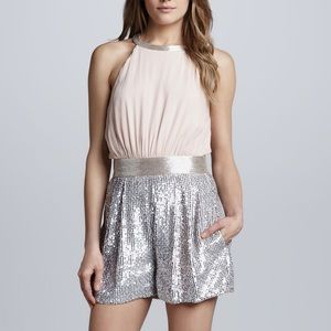 French Connection sequins shorts romper